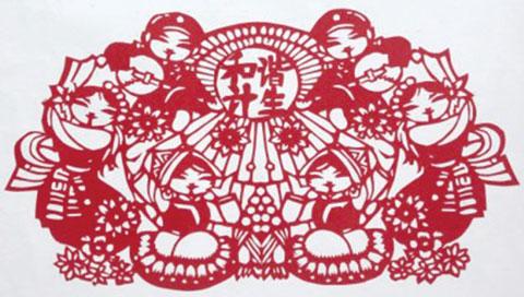 """泉州市""""""""中国梦国策情""""剪纸比赛优秀奖作品 — 李佳怡同学剪"""